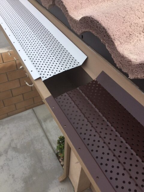 Leaf Guards available in white, brown, or black